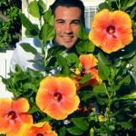 Darren and his beautiful hibiscus